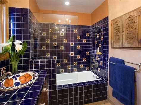 mexican tile bathroom how to design a romantic mexican tile bathtub surround