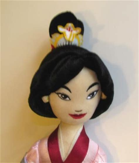 rag doll from mulan disney princess mulan soft cloth asian rag doll 17 ebay