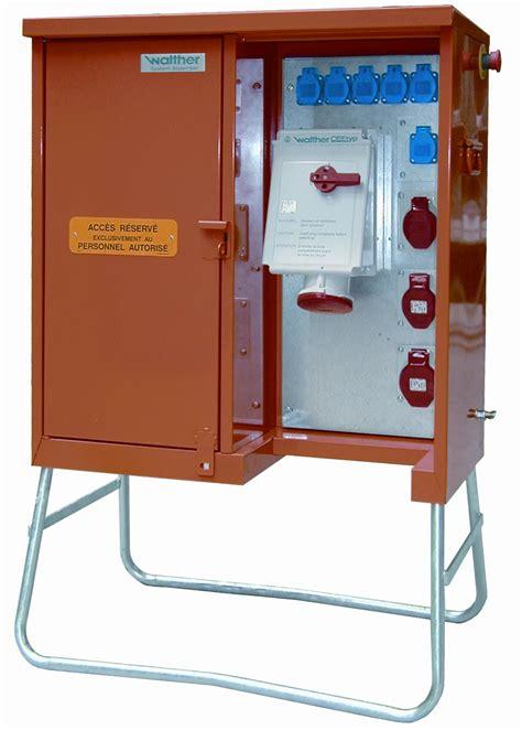 armoire electrique de chantier armoire de distribution type e07 walther