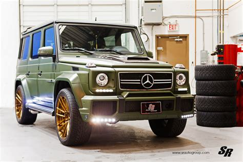 mercedes g wagon green military green brabus g63 amg with bronze adv1 wheels