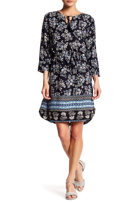 Beachlunchlounge Womens Shift Dress by Lunch Lounge Mixed Print Shift Dress In Black