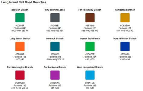 colors nyc did you the mta uses pantone colors to distinguish