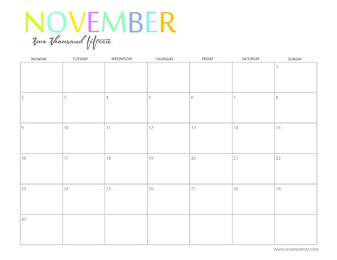 printable monthly calendar november 2014 november 2015 calendars to print with quotes calendar