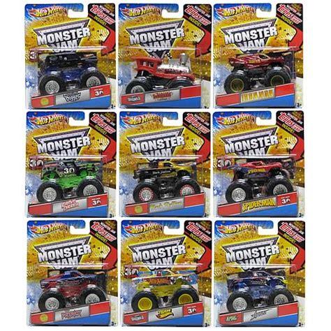 mattel monster jam trucks wheels 1 64 scale monster jam wave 5 case mattel