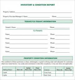 inventory report template sle inventory report template 6 free documents