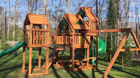 treehouse swing gorilla treasure trove treehouse swing set youtube