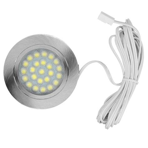 led alcove round 3000k warm white 24v 1 8w stainless steel