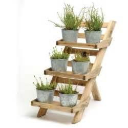 Wooden Plant Pots Wooden 3 Tier Pot Stand From Garden Trading Outdoor Pots Plant Pot Garden Ideas Flower