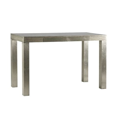 West Elm Parsons Desk by West Elm Parsons Desk The Wrapped Metal Finish