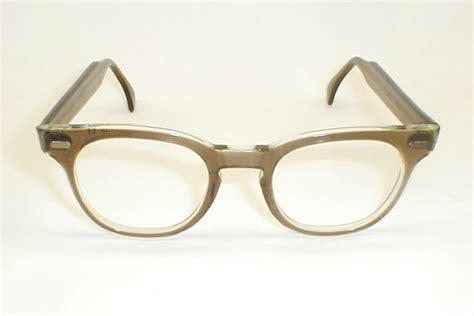 mens vintage smoke eyeglasses bausch lomb decco eyewear