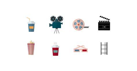 cinema symbols  icons  vector  png