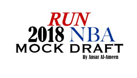 Nba Draft 2018 2018 Mock Draft Second Run Sports Source For