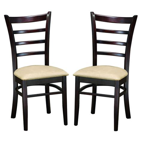 Microfiber Dining Room Chairs Microfiber Dining Chairs Brown Set Of 2 In Dining