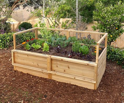 raised garden bed  hinged fencing eartheasycom
