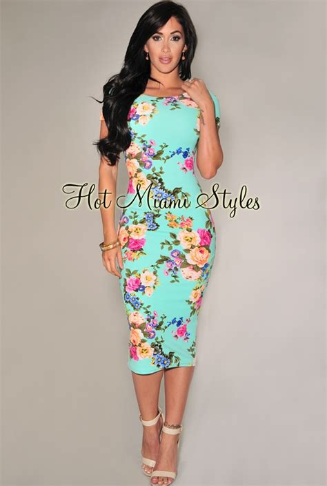 Warm Black Flower Textured Skirt 42164 mint multi color floral textured midi dress