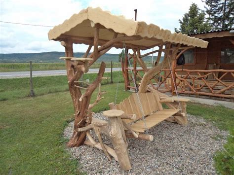 rustic garden swing rustic log swings the owner builder network