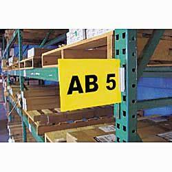 Warehouse Rack Labels by Pallet Rack Magnetic Pallet Rack Label Holder
