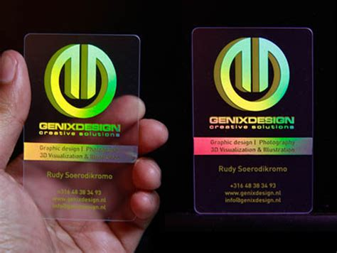 hologram business card awesome holographic business cards best business card inspiration