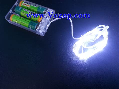 battery operated led light bulb 2m 20 leds copper wire led lights battery operated