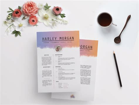 cover letter style 50 eye catching cv templates for ms word free to download