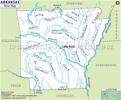 map usa arkansas tributaries of the arkansas river