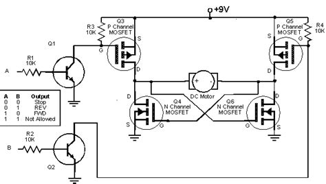 transistor mosfet h bridge gt circuits gt h bridge using mosfet transistor pwm l41091 next gr