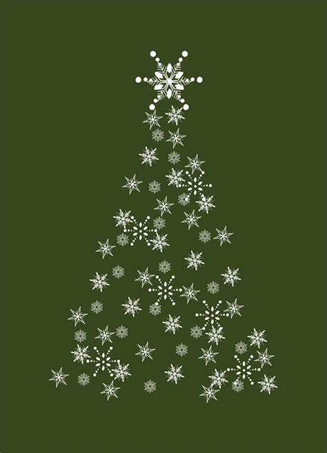 snowflake christmas tree christmas cards from cardsdirect