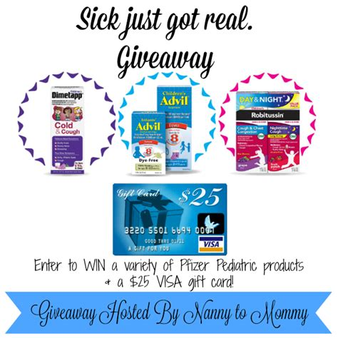 Pfizer Giveaway - nanny to mommy surviving cold flu season with pfizer pediatric giveaway