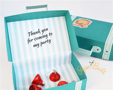 templates boxes for favors gifts vintage suitcase favor box template favor box party favor