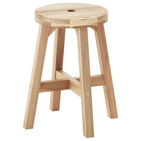 Stool In by Skogsta Stool Acacia 45 Cm
