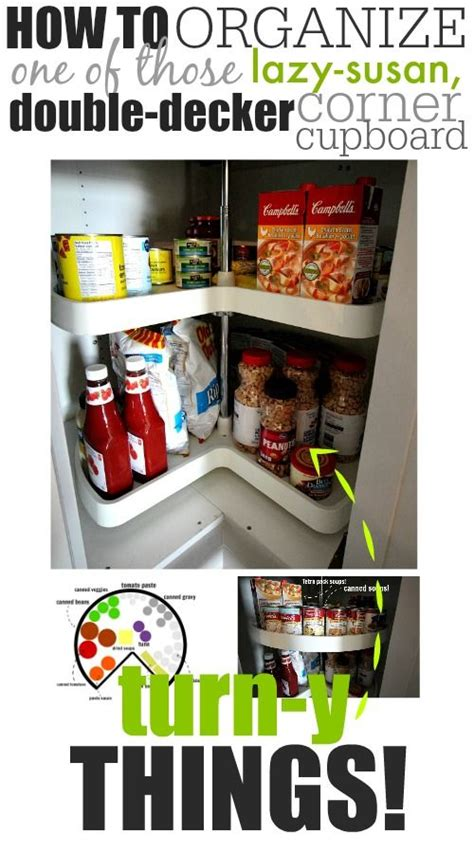 how to organize a corner cabinet how to organize one of those lazy susan double decker