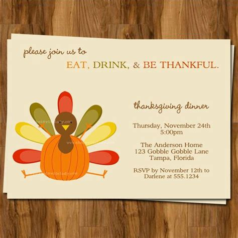 printable free thanksgiving invitations 7 best images of printable thanksgiving dinner invitations