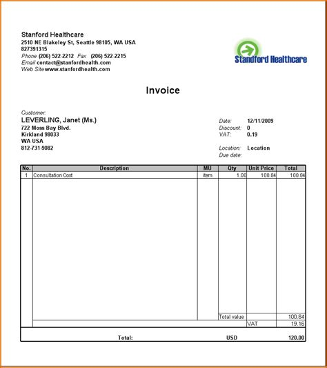 word templates for healthcare 8 medical bill template authorizationletters org