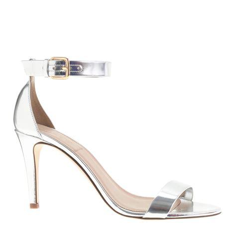 high heel sandals silver j crew mirror metallic high heel sandals in silver