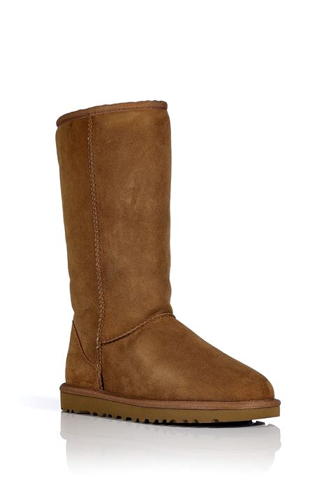 brown leather ugg boots ugg leather classic boots in chestnut in brown
