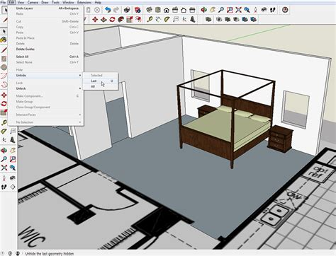 sketchup layout hidden geometry 2 sketchup shortcuts now you see it now you don t