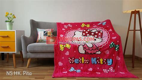 Selimut Bulu Hello Pink selimut new seasons grosir motif anak murah