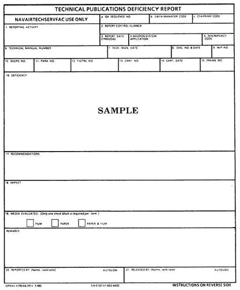 Navy Maintenance Requirement Card Template by Sle Category Ii Cat Ii Technical Publication