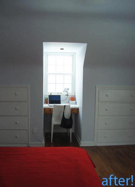 built in desk in bedroom before after the bedroom desk gets organized drawers