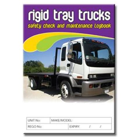 Background Check After Starting Rigid Tray Truck Safety Check Logbook Buy Commercial Logbook Personalised