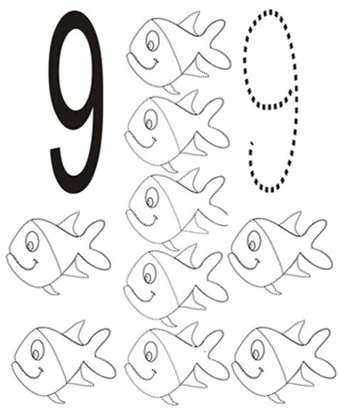 coloring pages for the number 9 number 9 coloring page