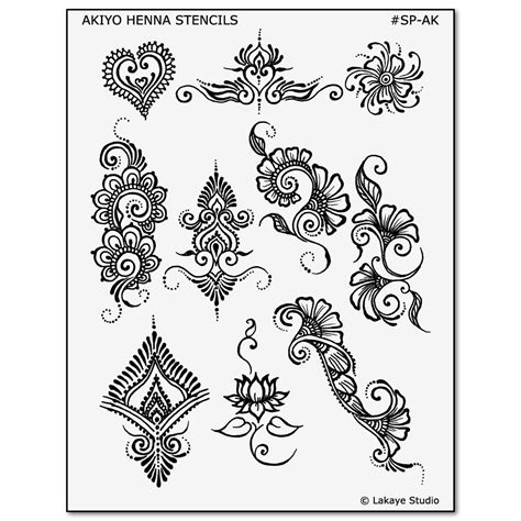 henna temporary tattoo stencils akiyo henna designs henna and jagua