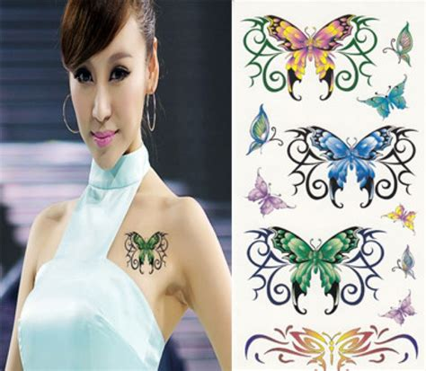 realistic butterfly temporary tattoo designs pictures