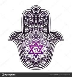 jewish hamsa tattoo stock vector 169 yulianas 135027268