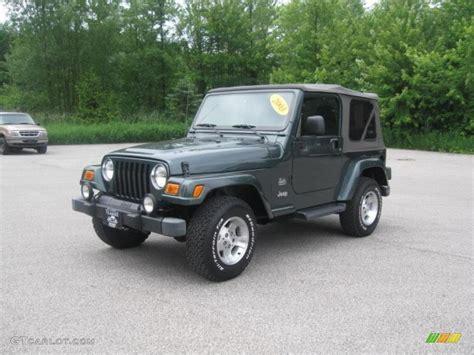 2003 green jeep 2003 shale green metallic jeep wrangler sahara 4x4