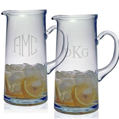 monogram barware susquehanna tankard pitcher monogram