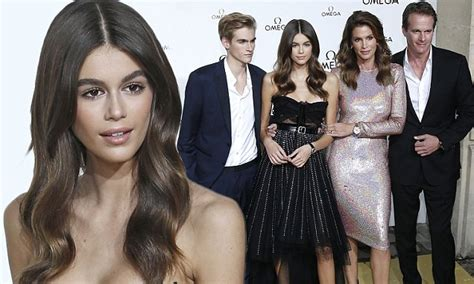 kaia gerber omega ad kaia gerber pulls out all the stops in gown at omega pfw