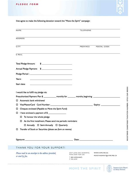 donation pledge form template selimtd