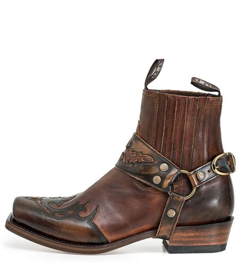 biker ankle boots sendra boots 7811 marron biker ankle boot brown