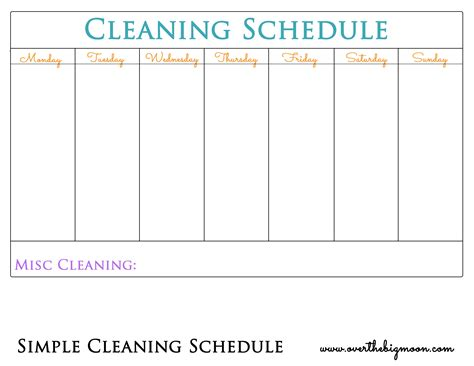free room in exchange for housework chore chart printable the big moon